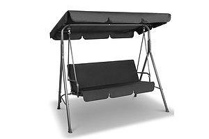 Gardeon 3 Seater Outdoor Canopy Swing Chair - Black - Free Shipping