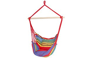Hammock Swing Chair with Cushion - Multi-colour - Brand New - Free Shipping