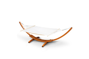 Gardeon Double Hammock with Wooden Hammock Stand - Free Shipping