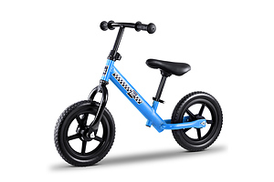 "Kids Balance Bike Ride On Toys Puch Bicycle Wheels Toddler Baby 12"" Bikes Blue - Brand New - Free Shipping"