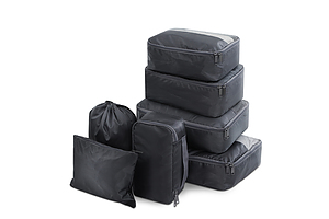 7PCS Dark Grey Packing Cubes Travel Luggage Organiser Suitcase Storage Bag - Brand New - Free Shipping