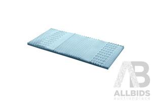 Cool Gel 7-zone Memory Foam Mattress Topper w/Bamboo Cover 5cm - Single - Brand New - Free Shipping