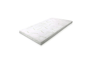 Memory Foam Mattress Topper Queen Bed Cool Gel Bamboo Cover 10CM - Brand New - Free Shipping