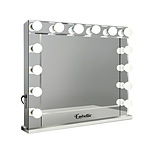 Make Up Mirror with LED Lights - Silver
