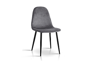 4 X Dining Chairs Dark Grey - Brand New - Free Shipping