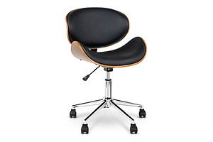 Wooden  & Leather Office Chair - Black - Free Shipping - Brand New - Free Shipping