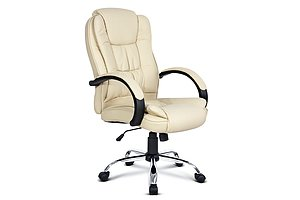 Executive PU Leather Office Computer Chair - Beige - Brand New - Free Shipping