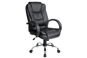 Executive PU Leather Office Computer Chair - Black - Free Shipping