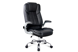 PU Leather Racing Style Office Chair - Black - Free Shipping