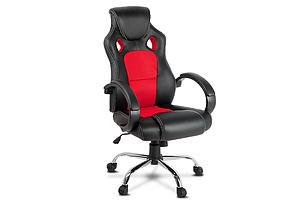 Racing Style PU Leather Office Chair - Red - Free Shipping