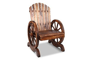 Wooden Wagon Chair Outdoor - Brand New - Free Shipping
