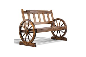 Wooden Wagon Wheel Chair  - Brand New - Free Shipping