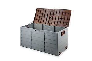 290L Outdoor Weatherproof Storage Box - Brown - Free Shipping