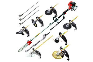 62CC 9 in 1 Multi Use Chainsaw Hedge Trimmer Brush Cutter - Free Shipping