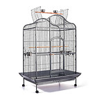Pet Bird Cage with Stainless Steel Feeders - Brand New