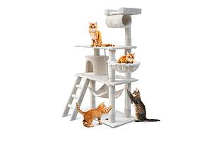 141cm Cat Scratching Tree Post - Beige - Free Shipping