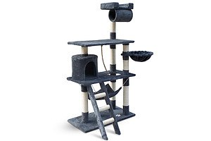 Cat Scratching Post Tree House Condo 141cm grey - Free Shipping