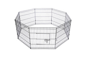 "24"" 8 Panel Pet Dog Playpen Puppy Exercise Cage Enclosure Play Pen Fence - Brand New - Free Shipping"