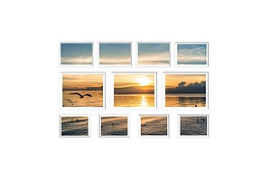 11 Piece Photo Gram Set - White - Brand New - Free Shipping