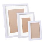 17 Pc Photo Frames Set Wall White - Brand New