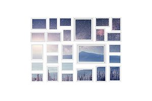 26 Piece Photo Gram Set - White - Free Shipping