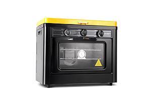 3 Burner Portable Oven - Black & Yellow - Free Shipping