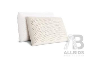 Set of 2 Natural Latex Pillow - Free Shipping