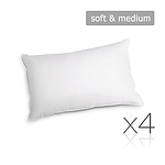 Set of 4 Medium & Soft Cotton Pillows -Brand New - RRP: $40.9 - Free Shipping