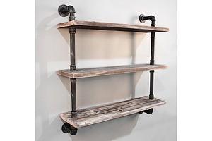 3 Level 92cm DIY Wall Mounted Bookshelf - Brand New - Free Shipping