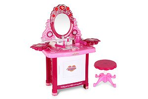 Kids Play Set Make Up Dresser 30 Piece - Pink - Free Shipping