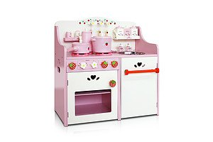 Children Wooden Kitchen Play Set Pink - Brand New - Free Shipping