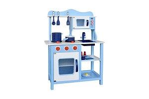 Children Wooden Kitchen Play Set Blue - Brand New - Free Shipping