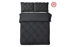 Giselle Bedding Queen Size Quilt Cover Set - Black - Free Shipping