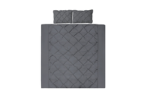 Queen Size Quilt Cover Set - Charcoal - Free Shipping