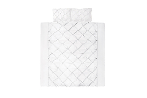Giselle Bedding Queen Size Quilt Cover Set - White - Free Shipping