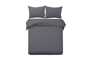 King Size Classic Quilt Cover Set - Charcoal - Brand New - Free Shipping