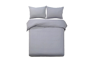 Super King Size Classic Quilt Cover Set - Grey - Free Shipping