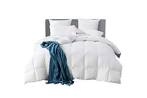 Queen Size Goose Down Quilt - White - Free Shipping