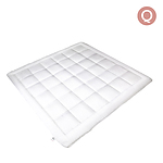 Queen Size Microfibre Quilt - White - Free Shipping