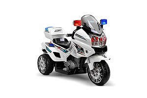 Kids Ride on Motorbike - White - Free Shipping