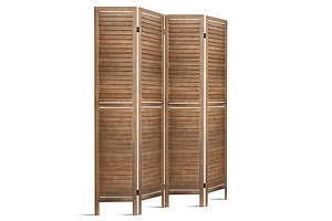 Room Divider Privacy Screen Foldable Partition Stand 4 Panel Brown - Brand New - Free Shipping