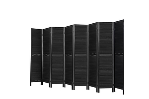 8 Panel Room Divider Screen Privacy Wood Dividers Timber Stand Black - Brand New - Free Shipping
