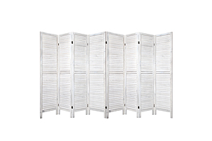 Room Divider Screen 8 Panel Privacy Wood Dividers Stand Bed Timber White - Brand New - Free Shipping