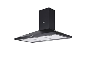 Range Hood Rangehood 90cm 900mm Kitchen Canopy LED Light Wall Mount Black - Brand New - Free Shipping