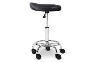 PU Leather Swivel Saddle Salon Chair - Black - Brand New - Free Shipping