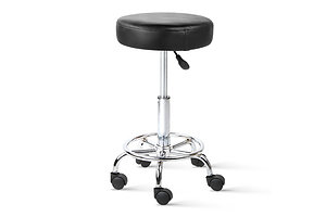Round PU Swivel Salon Stool Black - Brand New - Free Shipping