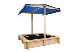 Wooden Outdoor Sand Box Set Sand Pit- Natural Wood - Brand New - Free Shipping