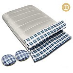 Camping Envelope Sleeping Bag Double Cream
