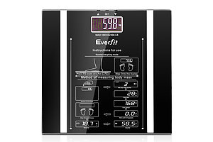 Electronic Digital Body Fat & Hydration Bathroom Glass Scale Black - Brand New - Free Shipping