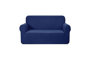High Stretch Sofa Cover Couch Protector Slipcovers 2 Seater Navy - Brand New - Free Shipping